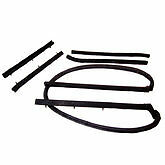 1965-1968 Ford Galaxie Convertible Top Roof Rail Seal Kit Weather Seals - New!