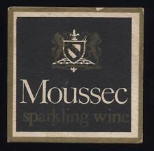 Moussec Sparkling Wine beer mat.