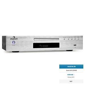 [RECONN.] LECTEUR CD MP3 USB HIFI AUNA RECEPTEUR FM SORTIE OPTIQUE - ARGENT