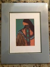 "Amado Pena Print Mujer Apache 14x11"" Matted Woman Native Southwest"