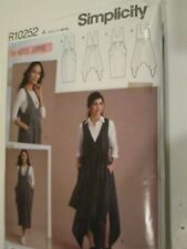 Simplicity Sewing Pattern R10252 Size XS-XL Womens Artful Jumper Romper Dress M