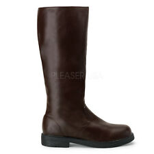Brown Mens Captain 1940s Military Riding World War 2 Costume Boots size 12 13 14