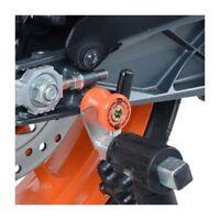 R&G Orange Cotton Reels/Paddock Stand Bobbins for Triumph Street Triple 675