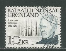 Greenland 1991 J. Petersen 10kr hival-Attractive Music Topical (242) fine used
