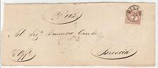 FRANCOBOLLI 1859 LOMBARDO VENETO 10 SOLDI MILANO 23/2 A/2874