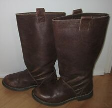 Gap Kids Girls Brown Leather Fashion Boots US 2