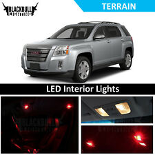 Red LED Interior Lights Accessories Package Kit fits 2010-2017 GMC Terrain