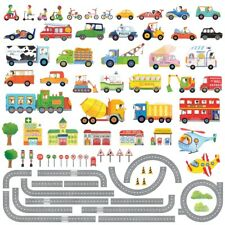 Decowall Cars Transports Roads Kids Removable Wall Stickers Decal DAT-1404NP1405