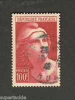 1945-46 France Θ used #556 100f stamp  Republique Francaise