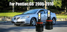 LED For Pontiac G6 2005-2010 Headlight Kit H11 6000K White CREE Bulbs Low Beam