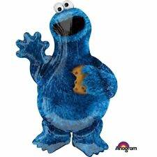 123 SESAME STREET Cookie Monster 23 x 35 inch SuperShape  1X Foil Mylar Balloon