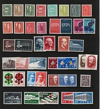 Norway - 41 older mint stamps - cat. $ 46.75