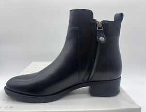 Womens Geox Felicity Leather Ankle Boots with Block Heel Size 5