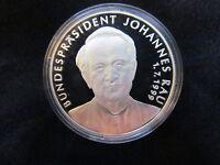 Berliner Republik Bundespräsident Johannes Rau Silber 999 PP Medaille