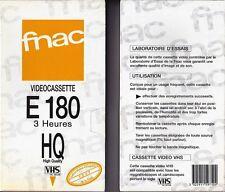 2 CASSETTES VHS- 1 DE 120 mn - 1 de 180mn HAUTE QUALITÉ - SOUS BLISTER