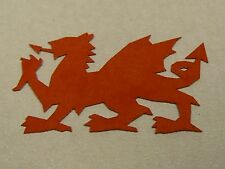 Red welsh dragon die cut out shape 25mm width - Bag of 50 - table decorations