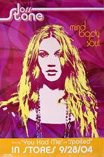 JOSS STONE  -  MIND BODY & SOUL  -  ORIGINAL ROLLED ROCK PROMO POSTER (2004)