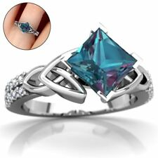 Engagement Women Wedding Colorful Stone Jewelry Topaz Ring