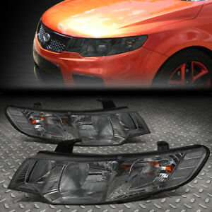 FOR 10-13 FORTE KOUP SMOKED HOUSING CLEAR CORNER HEADLIGHT REPLACEMENT HEAD LAMP