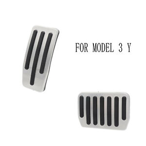 Non-Slip Performance Foot Pedals Pads Aluminum Pedal Covers for Tesla Model 3/Y