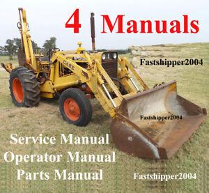 Custodia 580 CK Backhoe Loader Service Operator Parts Manual Construction King