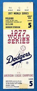 1977 World Series New York Yankees at Los Angeles Dodgers Ticket Stub
