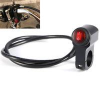 Universal 22mm Lenkerhalterung Schalter Wippschalter Motorrad ATV 12V Schwarz