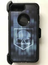 For iPhone 7 & iPhone 8 Camo Case Cover (Belt Clip fits Otterbox Defender)