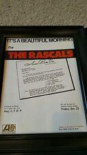 The Rascals Rare Original Hawaii Tour Rare Original Promo Poster Ad Framed!