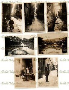 OLD PHOTOS FOOCHOW CHINA STREET SCENES ETC VINTAGE C.1930