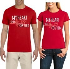 My Heart Only beats for Her Him Valentine Cute Funny matching TShirt
