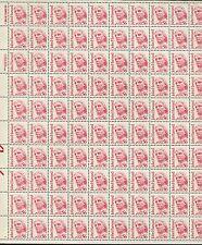 Pane of 100 USA Stamps 2190 Clergyman English Minister John Harvard Price $165