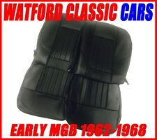 MGB Roadster and GT Pair of Seat Covers 1962-1968 Leather look All Black