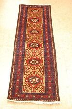 c1930 ANTIQUE CAMEL HAIR FIELD PERSIAN BALOUCH RUG RUNNER 1.8x5.1 RARE SIZE