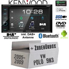 Kenwood Radio für VW Polo9N3 Bluetooth Antenne DAB Digital USB Spotify Einbauset