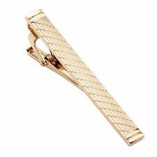 Gentleman Necktie Clip Tie Clip Pin Wedding Clasp Classic Golden Laser Man-NJ