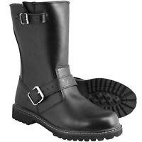 Tuzo Black Leather Motorbike Custom Waterproof Breathable Motorcycle Boots