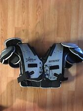 YOUTH DOUGLAS DESTROYER FOOTBALL SHOULDER PADS SIZE L 25 L NICE GEAR