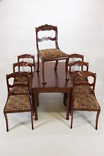 Willett Wildwood Solid Cherry Drop Leaf Rope Leg Dining Table 1 Leaf & 7 Chairs