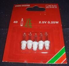 5x Konstsmide Lämpchen 2,5V 0.25W 2006-052 für 40er Lichterkette Sockel weiss!