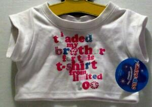 NWT BUILD A BEAR LIMITED TOO WHITE TRADED BROTHER FOR THIS SHIRT OUTFIT