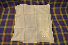 Vintage Group of 3 Maderia White Linen Hankies-Burmel,Rn1723B,Sc alloped Edge