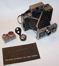 Vintage Polaroid Land Camera Model 250 w/ Instructions Book, Light Meter & Case