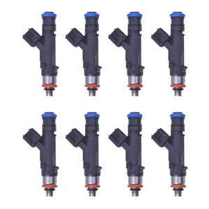 Set of 8 Fuel Injectors FJ474 Fits 2004-2012 DODGE JEEP MITSUBISHI RAM 3.7L 4.7L
