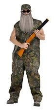 Duck Hunter Dynasty Camouflage Coveralls Overalls Jumpsuit Beard Costume Mens