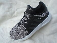 MENS ADIDAS GILBO BLACK/WHITE LACE UP LEATHER TRAINERS UK SIZE 8