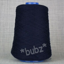 SOFT PURE LAMBSWOOL 2 PLY 250g CONE NAVY BLUE MACHINE KNIT WOOL YARN ZHS BRITISH
