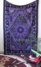 psychedelisch Wandteppich Himmlisch Sonne und Mond Zodiak Indisch Wandkunst