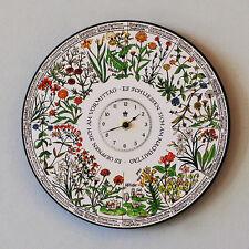 Wanduhr Blumenuhr Design von Carl von Linné Wegwarte Seerose Wunderblume Uhr 10