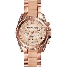 Michael Kors Womens MK6175 Mini Blair Rose Gold Tone St Stl Blush Acetate Watch